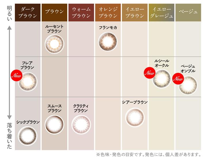 エルージュ【eRouge】カラー印象