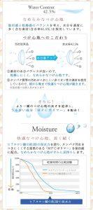 含水率とMPCポリマーでうるおい感持続